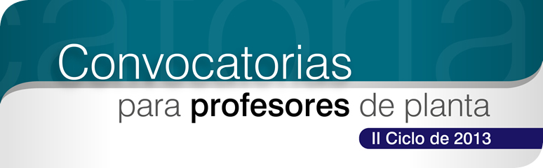 Convocatorias Profesores
